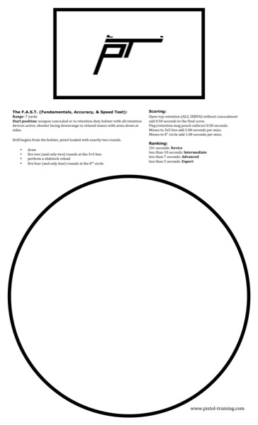 picture relating to Printable Dry Fire Targets identified as Printable Objectives