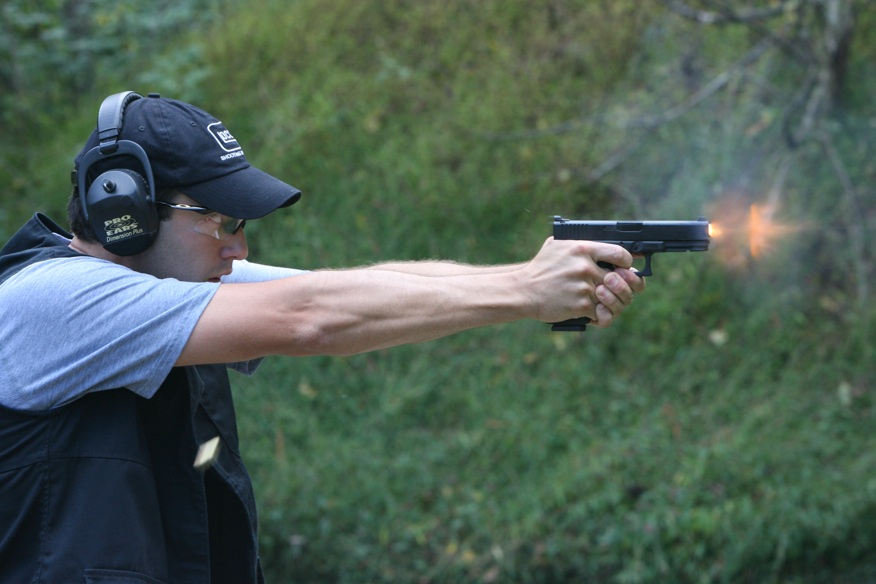 Dave Sevigny, 1st CDP Master shooting Glock 21SF