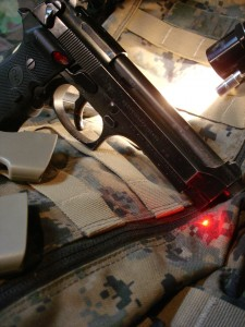 Lasergrips are invaluable when shooting the pistol with night vision goggles.