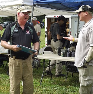 Tom Givens (L) and ToddG (R) at Tom's Combative Pistol class in Culpeper, VA July 2012